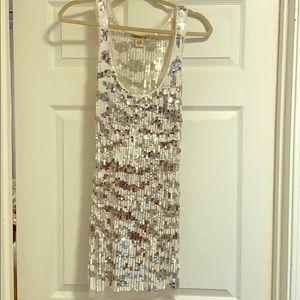Arden B sequin sheer dress